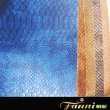 Snake Skin synthetic leather for bag/small quantity Snake skin leather/snake skin pu leather in stock