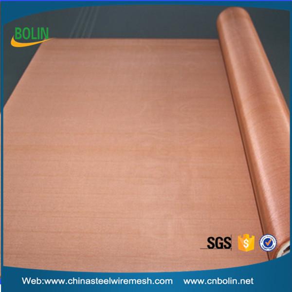 Ultra Fine Copper Grid Red Copper Cloth Copper Infused