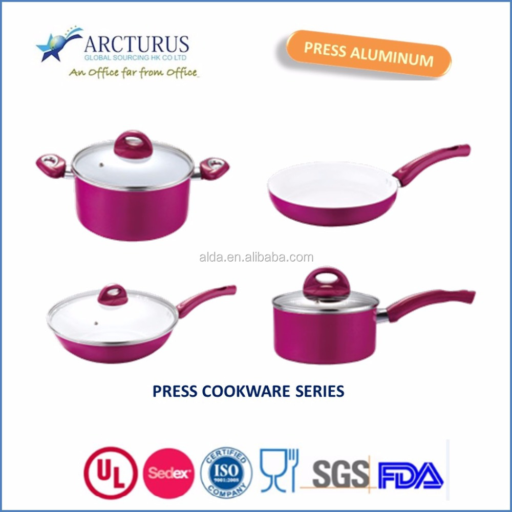 PINK AND BLUE COOKWARE SERIES FOR INDIA MARKET