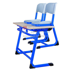Hot-sale kids table and chair plastic,School plastic student table and chair,Children furniture double desk and chair