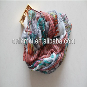 Nice design cotton voile scarf/mix color scarf