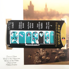Blue Bone Lovely Nail Arts Sticker 14 pcs set Waterproof Nail Decal Art Sticker Gel Polish