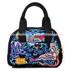 Women Cosmetic Bags Fashion Embroidery Canvas Purse Handbag