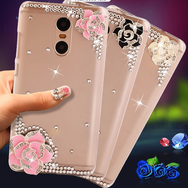 2017 Fashion Roses rhinestone For Lenovo Vibe K6 Hard PC Cover Case For Lenovo K6 power Case 5.0 &quot; <strong>Para</strong> Fundas K6 power cover