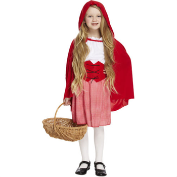 Kids Little Red Riding Hood For Girls Fancy Dress Costume Storybook Outfit Book Week Party AD848