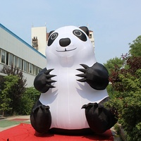 5m inflatable panda cartoon animal for shopping mall decoration