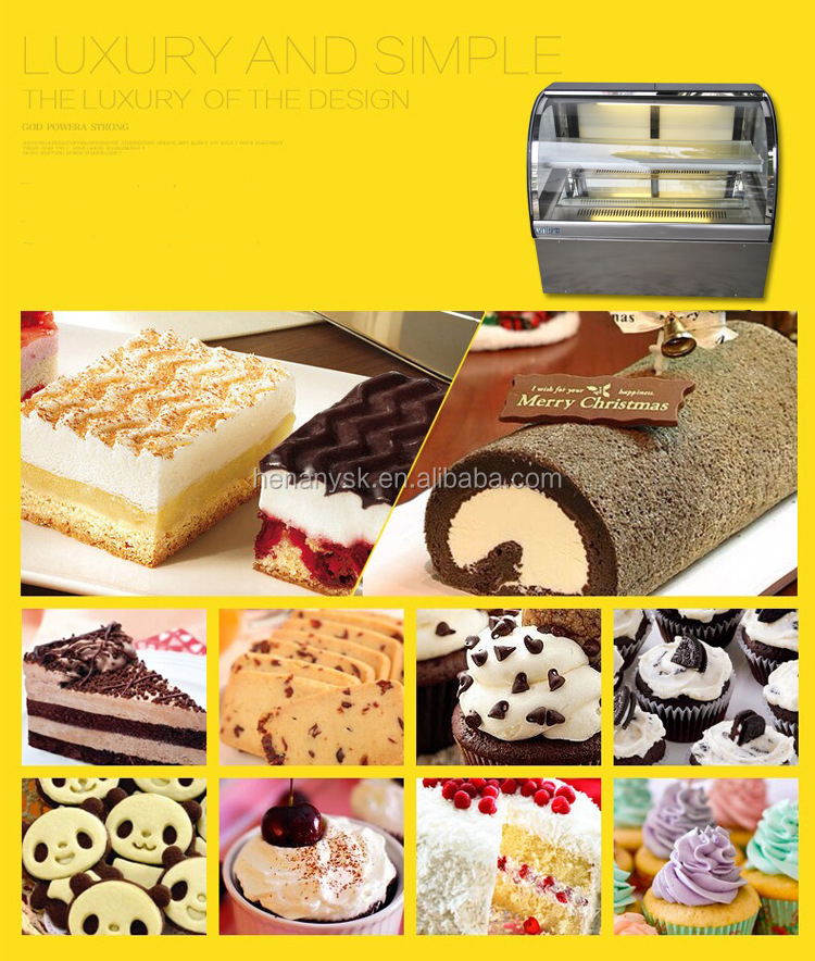 110L 2 layer Cake Display Showcase For Supermarket Display Chiller Showcase IS-CT-900