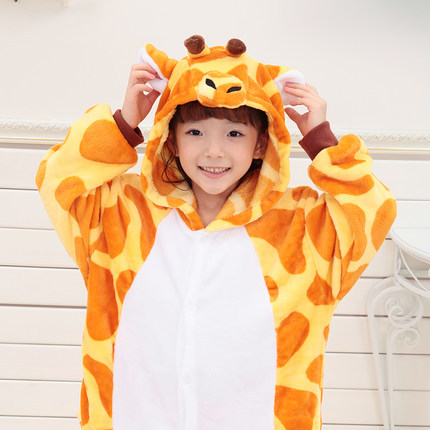 2016 winter warm fleece cute kids animal pajama for Children