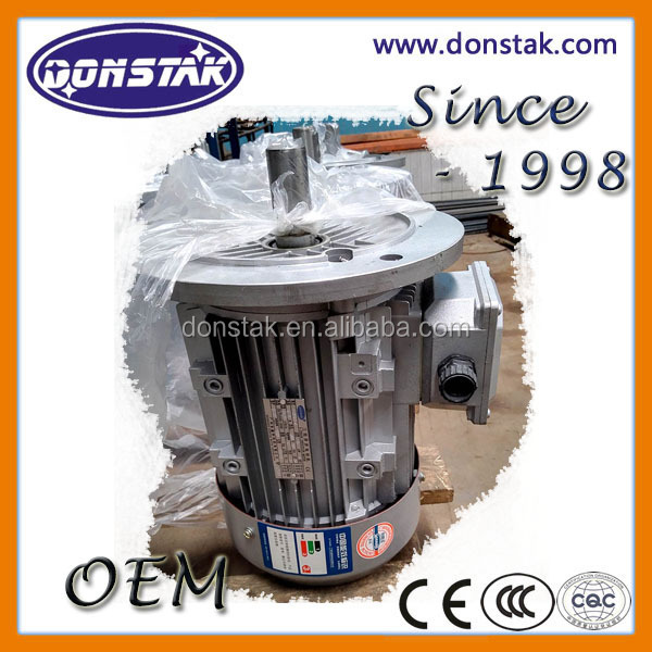 0.75KW IE2 Aluminium Three Phase AC Induction Motor with Squirrel Cage, TEFC Electric Motor