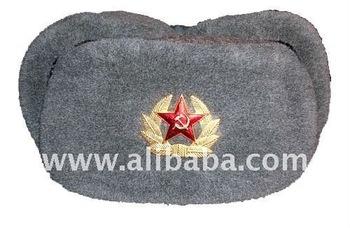 e4556e5c9ab Russian Military Surplus USSR Army Soviet Soldier Uniform Winter Shapka Ushanka  Hat Red Star Emblem