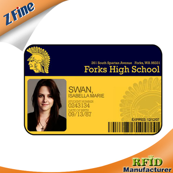 school student photo id card employee id card maker with barcode or