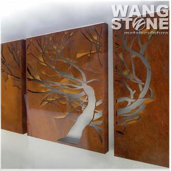 Laser cutting metal corten steel wall art wholesale