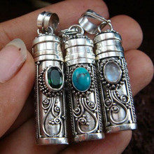 China wholesale jewelry antique silver plating diamond pets cremation urn pendant for necklace