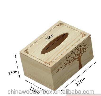 wholesale wood cup storage box , wooden tissue box holder