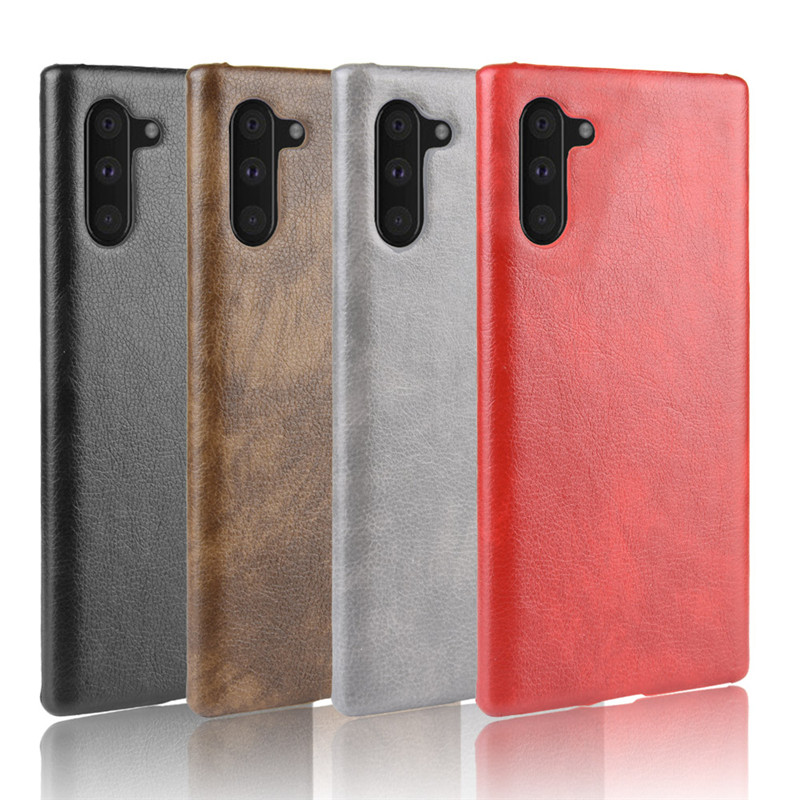 For Samsung Galaxy Note 10 Phone Case PC Leather Back Cover
