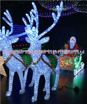 Santa In The Sleigh With Reindeer For Led Christmas Decoration - Buy ...