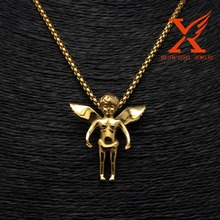 Hip Hop Jewelry Stainless Steel Micro LittleI Angel 3D GOLD Charms Pendants