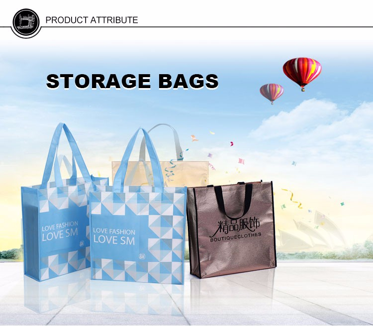 promotional recyclable polyester plastic shopping bag