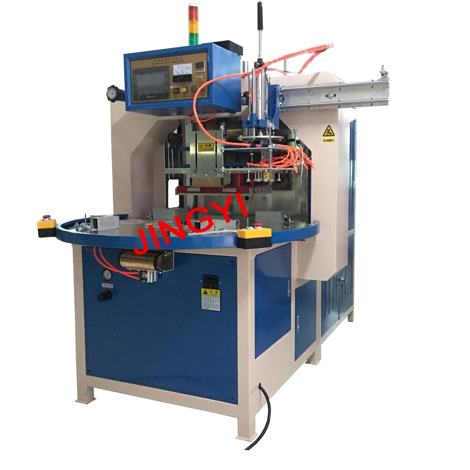 Automatic Turntable HF Welding and Cutting Machine(JY-8000AZD-R)High Frequency PVC Sealing Machine