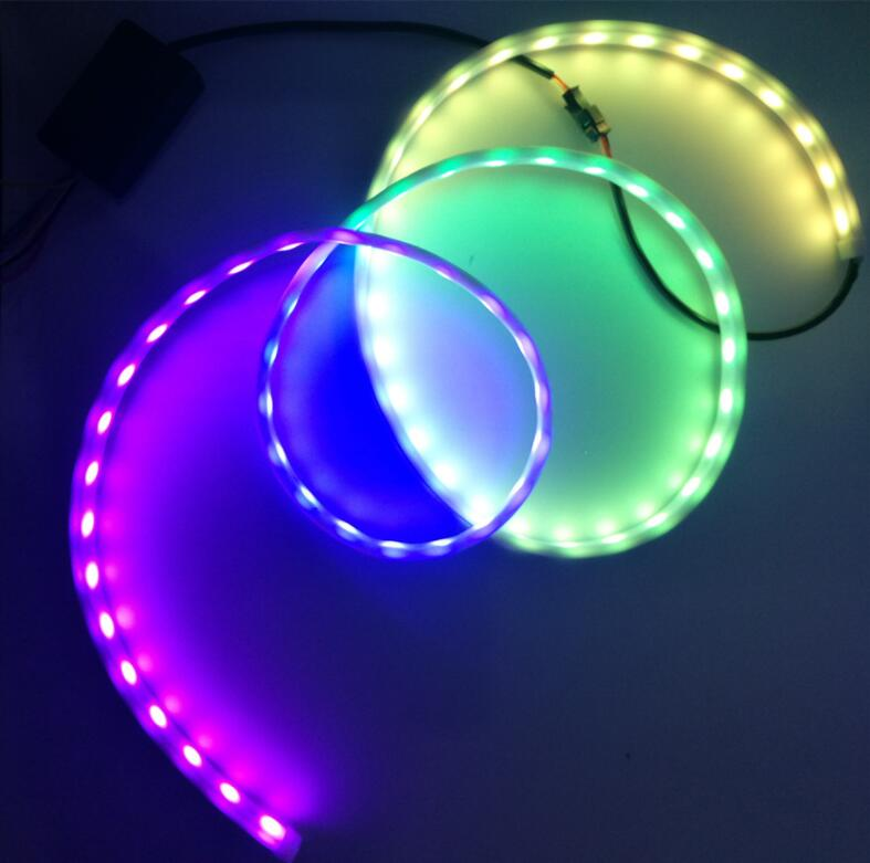 Free sample super bright 120cm 5050 led chip Car Flowing Led Flexible Strip Truck Tail Box Light Tube RGB Rear Brake
