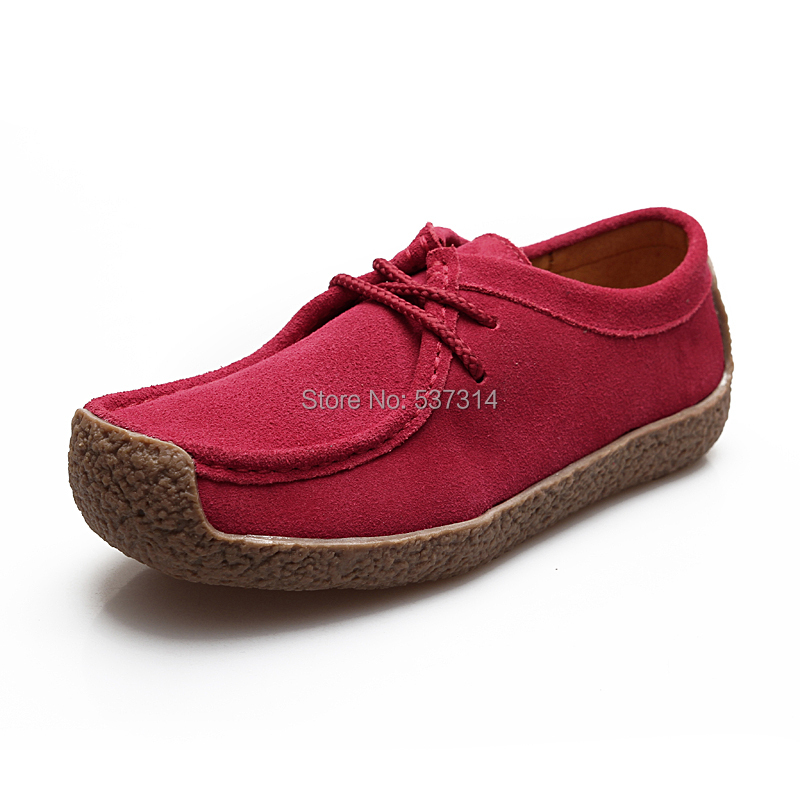 2015 autumn new unisex lover casual flat shoes moccasins sneakers women men casual cowhide genuine leather lace-up boat shoes