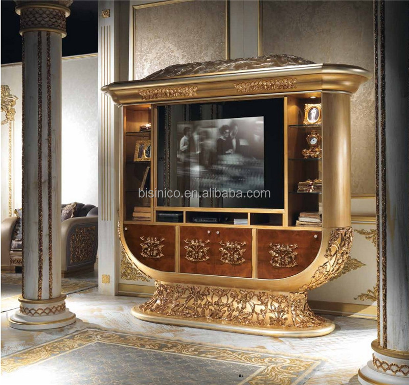 italien neuen design verzierten messing montiert wohnzimmer tv m bel luxus massivholz gro e. Black Bedroom Furniture Sets. Home Design Ideas