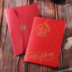 New design luxury red color paper envelopes printing wedding cards in lahore