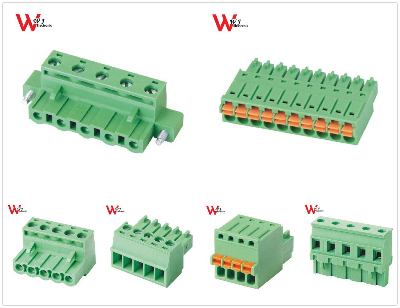 PCB electrical fuse pluggable brass earth terminal block connectror Wago Phoenix Weidmuller