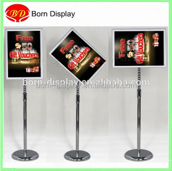 folded sign 32mm aluminum round corner frame a4 size clip poster