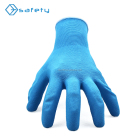 Nylon Super Grip Latex Work Rubber Palm Grip Gloves For Gardening