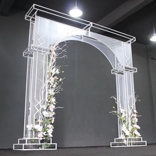 2018 latest wedding deco of pvc sticker arch for stage background wedding decoration