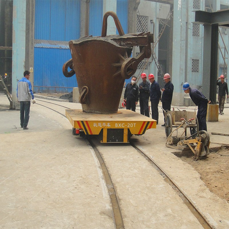 high-temperature metal ladle transfer cars electric wagon