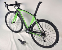 Hot selling black matt finish carbon aero road bike FM098 with Shi 6770 DI2 groupset