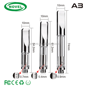 Glass metal vape pen for cbd oil co2 1.0ml tank ecig pen glass vape atomizer gold a3 cartridge
