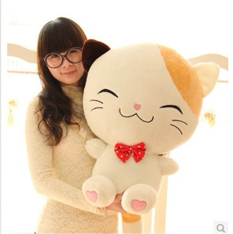 special birthday gift happy cute cat doll plush toy for sale