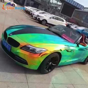 Best Quality 3 Layers Chrome Holographic Vinyl Car Wrap Rainbow ...