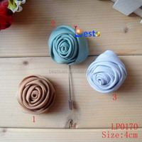 wholesales reasonable price fabric flower lapel pin for suits