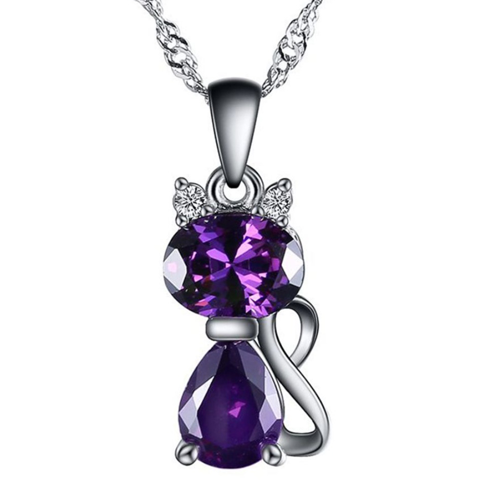 Best 925 Sterling Silver Necklace Jewellery Of Cat Pendant For Lover