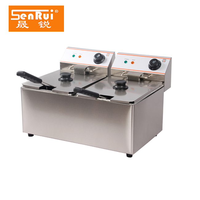 8+8 Liters Double tank low wattage electric appliances deep fryer