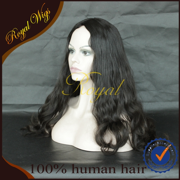 beautiful wave fashinable style 28 inch natural color 100% human virgin hair jewigh wigs kosher wigs