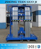 12m 200KG double masts home elevator/movable man lift/portable single person lift