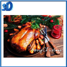 ThreeD wholesale supplier 3d lenticular greeting card for thanksgiving day
