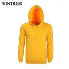 Custom yellow pullover sweatshirt hoodie men cotton polyester hoodie custom embroidery