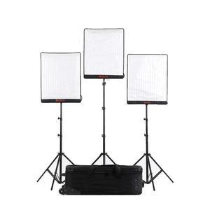 Photography portable flexible bi-color 3000K-5600K dimmable 100W LED video photo light kit with stand