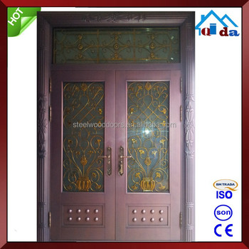 High Quality Safety Steel Glass Entrance Door Buy Steel Glass Door