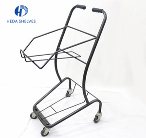 Chinan Experienced Supplier Supermarket Equipment Convenient 4wheels Japanese Style Shopping Cart With Wire Stitching