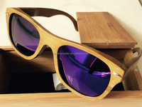 2015 OEM Bamboo Wooden Sunglasses Polarized Lenses Optical Attribute and Sunglasses Style Eco-friend Handmade Wooden Sunglasses