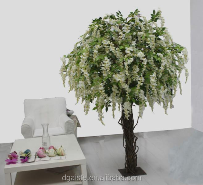fake blooming wisteria flower tree for wedding party decoration
