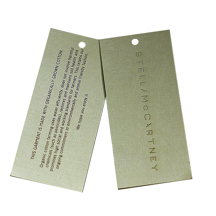 custom new china design clothes brand printed paper private label high-tech hang tag for clothing