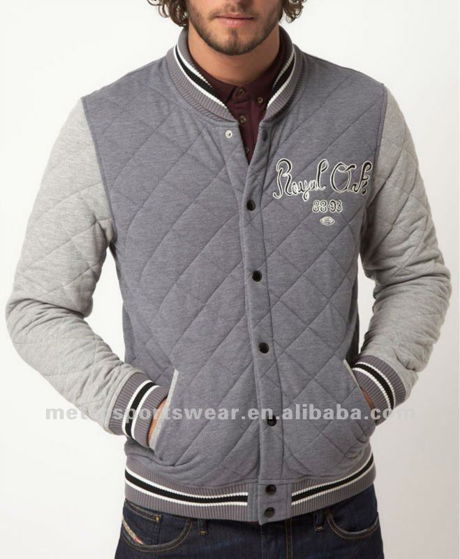 Fashion mens varsity Jacket With diamond quilted
